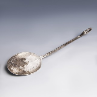 Hellenistic Silver Spoon with Swan-Head Finial